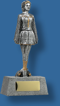 Silver female Irish Dance trophy