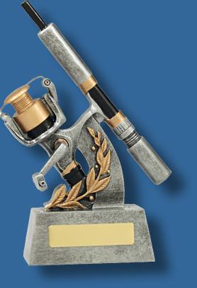 Silver Fishing rod and reel award