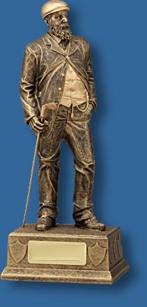Gold founder of Golf trophy