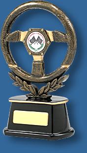 Motor Sports Trophy Generic Resin. Steering Wheel Series. Gold steering wheel Motor Sports trophy