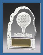 Acrylic Golf trophy with golf ball