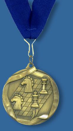 Chess medallion and ribbon