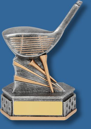 Silver mounted Golf driver trophy