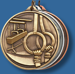 50mm Gymnastics medal antique series