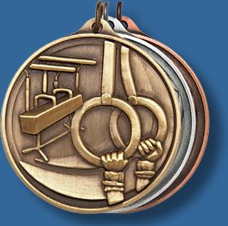 50mm Gymnastics medal antique series