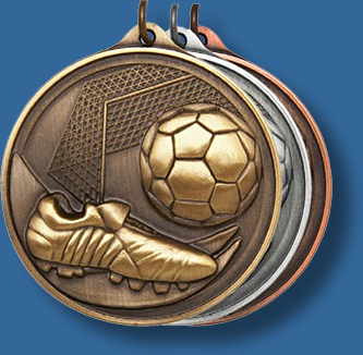 50mm Soccer medal antique series