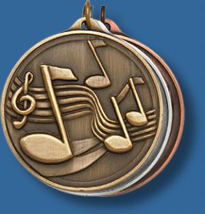 50mm Music Medal antique series