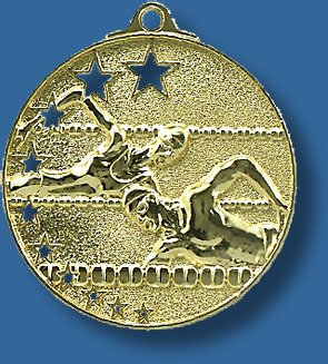 Swimming medal bright star