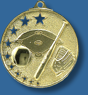 Softball/Baseball medal bright star