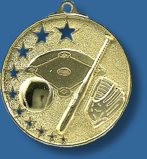 Softball/Baseball medal bright star