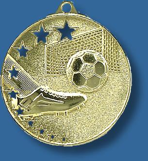Soccer medal bright star