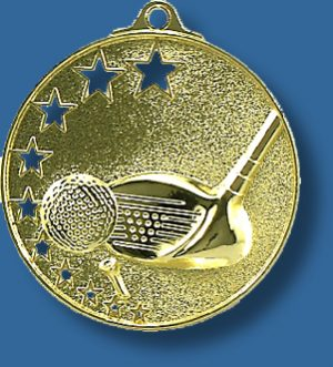 Golf medal star award