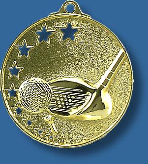 Golf medal star award