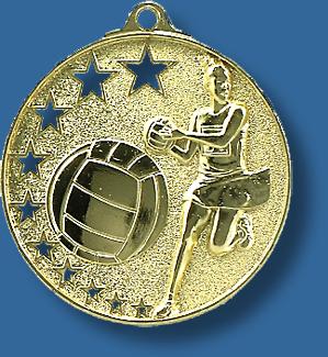 Netball medal bright star