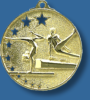 Gymnastics medal star award