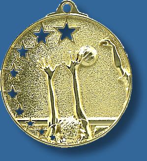 Volleyball medal bright star