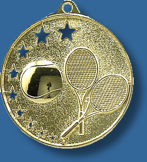 Gold Tennis Medal MH918t