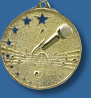 Singing medal bright star