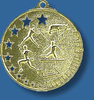 Little Athletics medal bright star