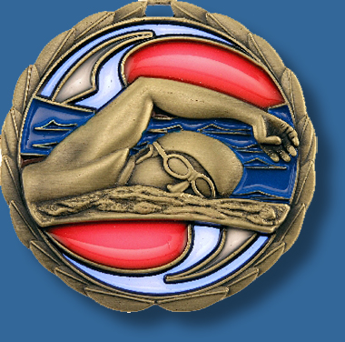 65mm Swimming medal glass series