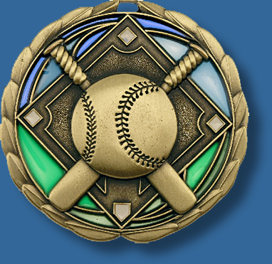 65mm Baseball/Softball medal glass series