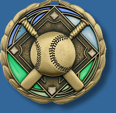 65mm Baseball/Softball medal glass series