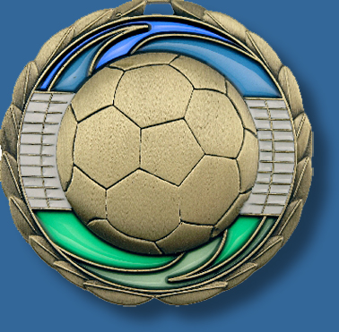 65mm Soccer medal glass series