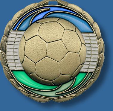 65mm Soccer medal glass series