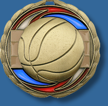65mm Basketball medal glass series