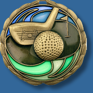 65mm Golf medal glass series