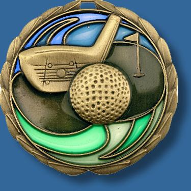 65mm Golf medal glass series