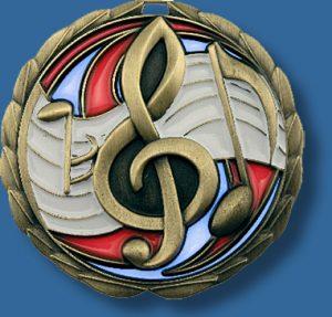 65mm Music medal glass series