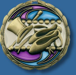 65mm Dance medal glass series