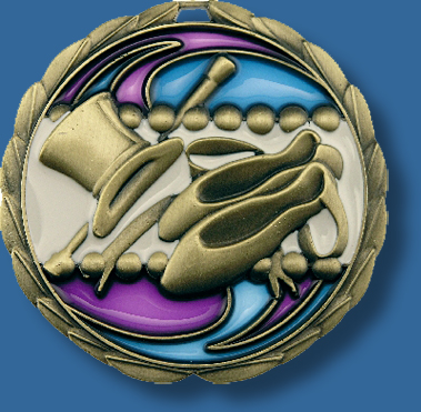 65mm Dance medal glass series