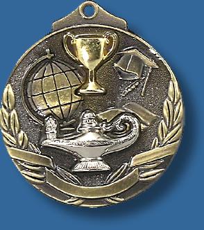 Gold only 52mm Academic medal