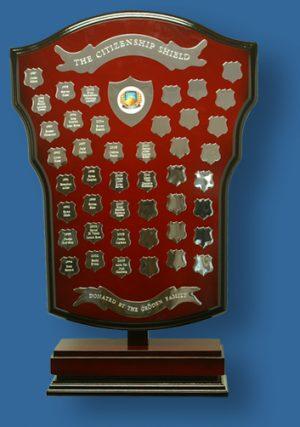 Freestanding trophy shield 70 cm tall