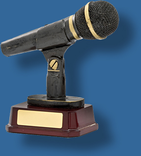 Black mounted microphone Music trophy