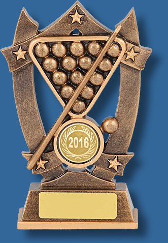 Gold Pool balls triangle trophy