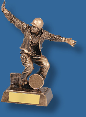 Bronze male modern Dance trophy