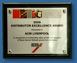 Brushed silver metal on black gloss Plaque