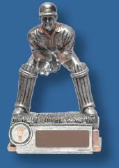 Silver Cricket wicket keeper trophy