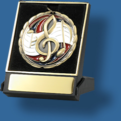 Music medal in box