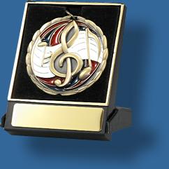 Music medal in box
