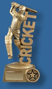 Gold Cricket stand batsman