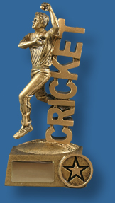 Gold Cricket stand bowler