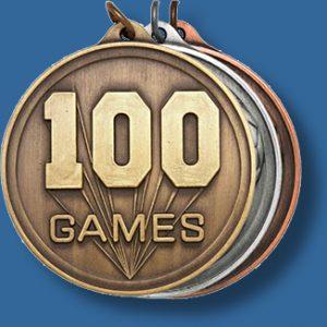 50mm 100 games medal antique