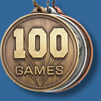 50mm 100 games medal antique