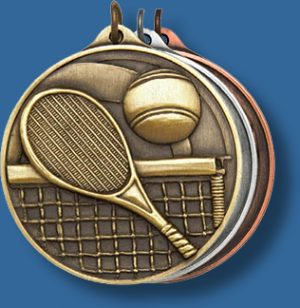50mm Tennis medal antique series