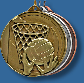 50mm Netball medal antique series