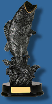 Large silver Fishing trophy